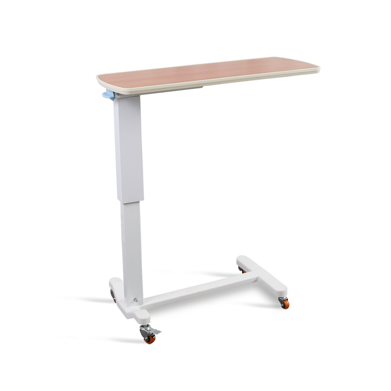 SKH201-2 Hospital Folding Swivel Bed Tray Table With Wheel