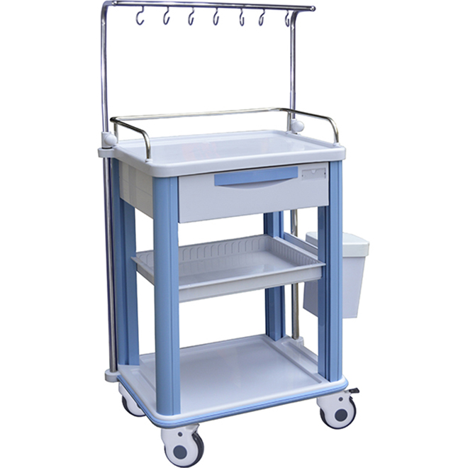 SKR016-ITT Plastic Infusion Drawer Trolley With Wheels