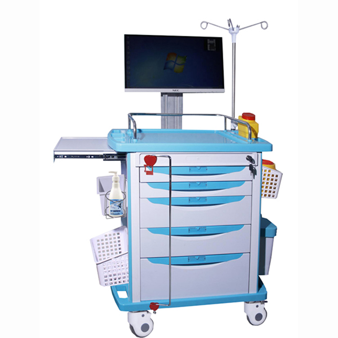 SKR054-WT Ambulance Medicine Delivery Trolley