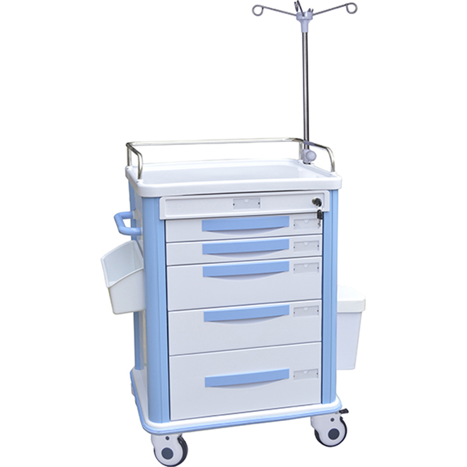 SKR038-ET ABS Hospital Emergency Trolleys
