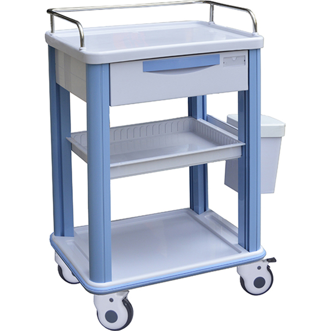 SKR016-CT ABS Medical Trolley With Drawers