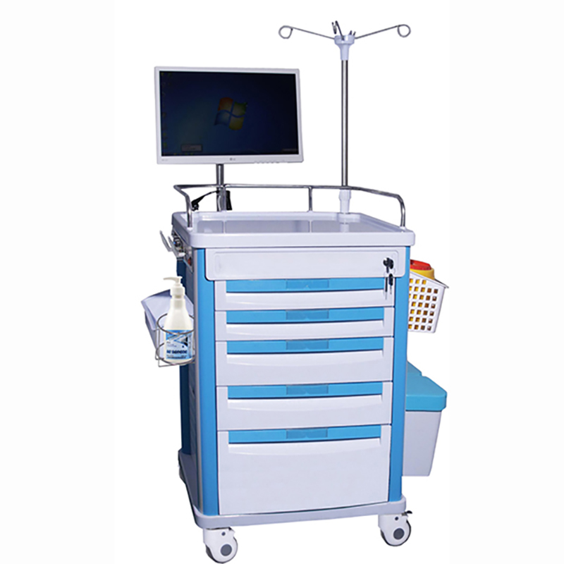 SKR028-WT Detachable Nursing Hospital ABS Trolley