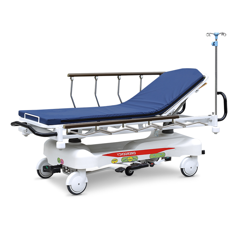 SKB041-3 Steel Hospital Patient Trolley