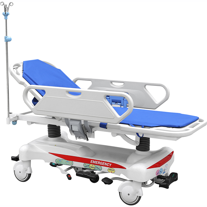 SKB041-2 Hospital Patient Hydraulic Transport Trolley